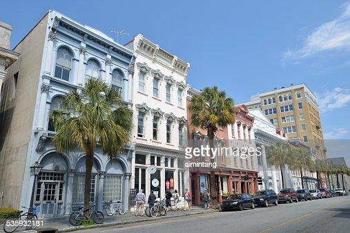 Tourists in Downtown Charleston of South Carolina : Stock Photo