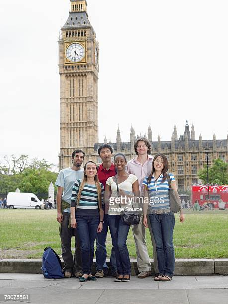 Tourists in front of big ben