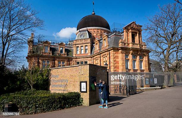 Tourists in front of the Royal Observatory, Greenwich
