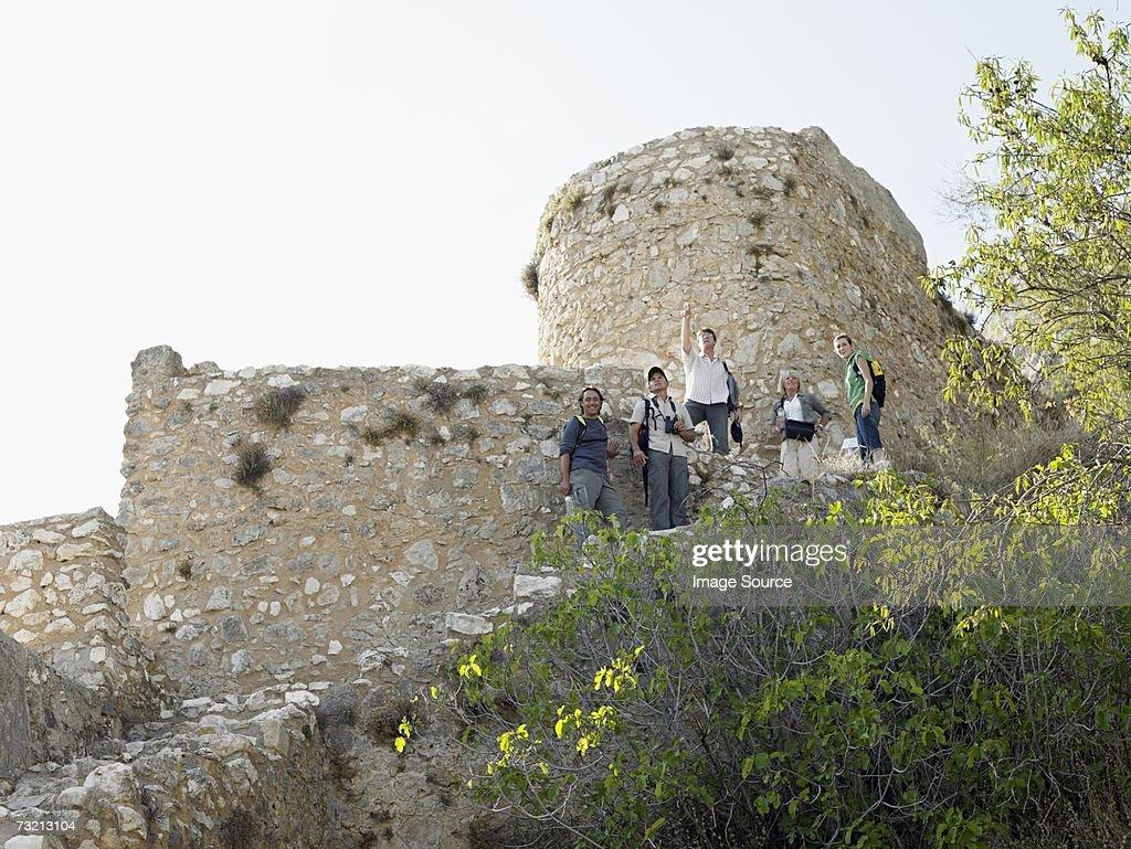 Tourists in Granada : Stock Photo