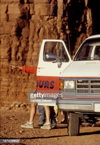 Tourists in Monument Valley : Stock Photo