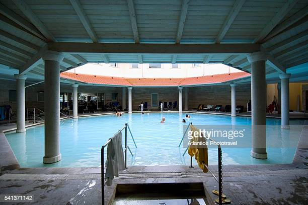 Tourists in Pool at the Hotel Terme di Saturnia