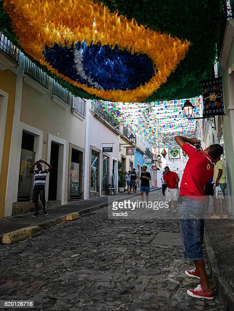 Tourists in Salvador, Brazil
