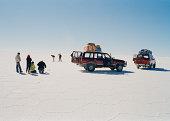 Tourists in the Uyuni Salt Flats