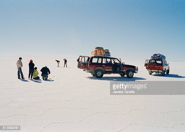 Tourists in the Uyuni Salt Flats