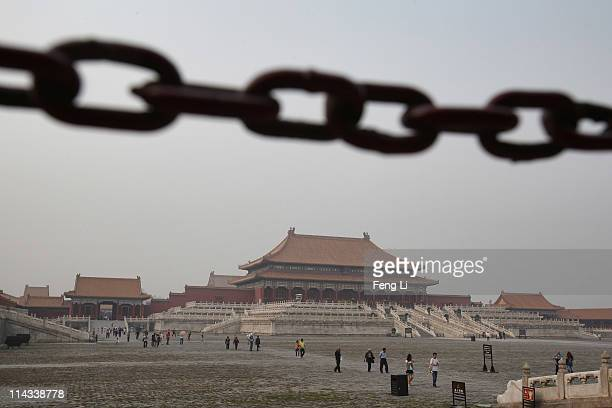 Tourists leave the Forbidden City which was the Chinese imperial palace from the midMing Dynasty to the end of the Qing Dynasty on May 18 2011 in...