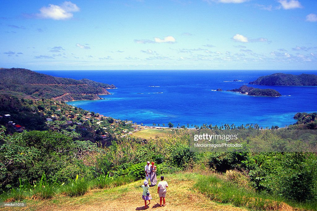 Tourists on Goat Island near Speyside, Tobago, Caribbean
