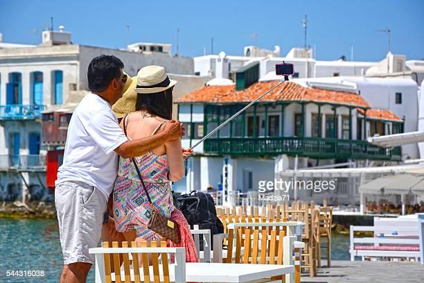 Tourists on Mykonos
