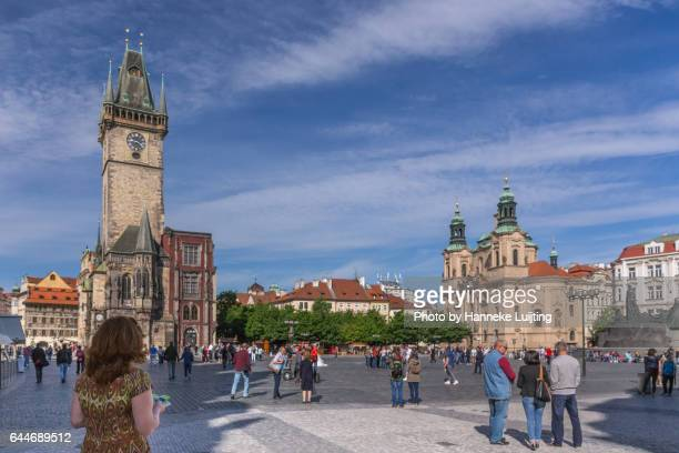 Tourists on Prague Old Town Square
