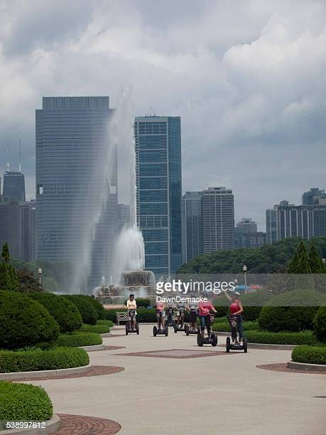 Tourists on Segways in Grant Park