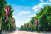 British flags line the famous promenade to mark the monarch's birthday celebrations