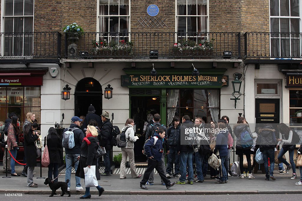 Tourists queue outside the former home of the fictional Character Sherlock Holmes on April 5, 2012 in London, England. 221B Baker Street is the London address of the fictional detective Sherlock Holmes, which was created by author Sir Arthur Conan Doyle.