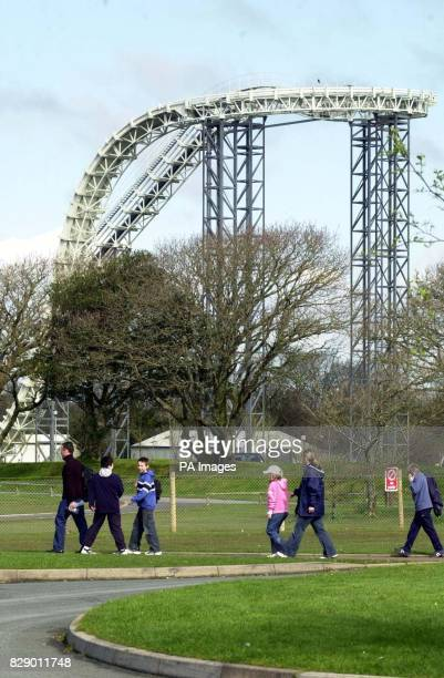 Tourists return to Oakwood Leisure Park in west Wales where Hayley Williams of Pontypool died after falling 100 feet from the top of the structure A...
