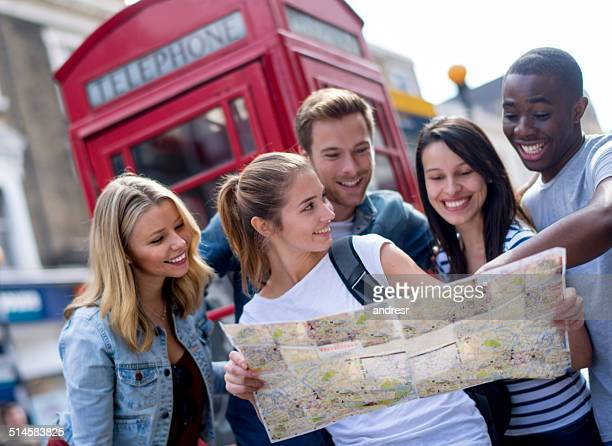 Tourists sightseeing in London