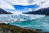 Tourists take in views of the Perito Moreno Glacier in Patagonia, Argentina
