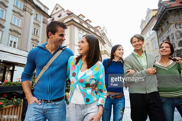Tourists Taking a Walk