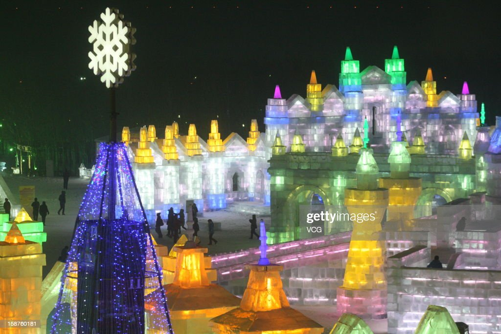 Tourists visit the 29th Harbin International Ice and Snow Festival at the Harbin Ice and Snow World on December 27, 2012 in Harbin, China. The 29th Harbin International Ice and Snow Festival officially starts on January 5, 2012 and lasts for over one month.