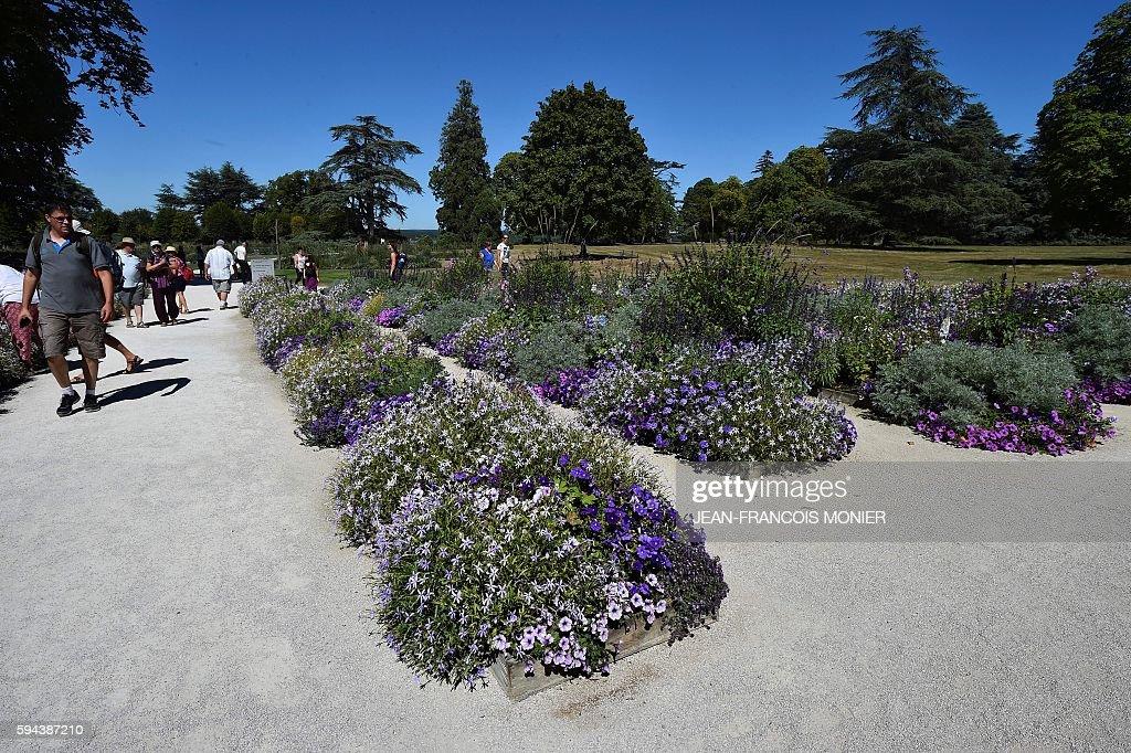 Tourists visit the garden of Chaumont Castle on August 23 in ChaumontsurLoire central France / AFP / JEANFRANCOIS MONIER