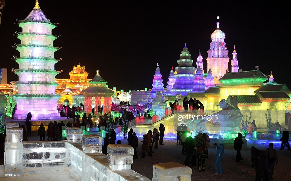 Tourists visit the opening of the 29th Harbin International Ice and Snow Festival, touted as the world's biggest ice and snow festival, on January 5, 2013 in Harbin, China's northern Heilongjiang Province.