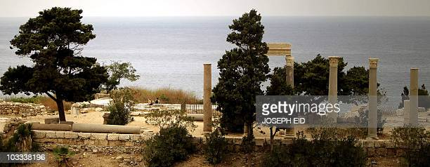 Tourists visit the ruins of the Crusaders' Citadel in the Lebanese ancient port city of Byblos on August 10 2010 AFP PHOTO/JOSEPH EID