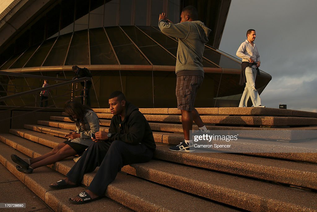 Tourists visit the Sydney Opera House on June 12, 2013 in Sydney, Australia. The New South Wales government is expected to commit AUD $14 million in it's 2014-15 budget to a ten year plan that will see the Sydney Opera House refurbished and it's facilities upgraded. The world-heritage listed landmark will celebrate it's 40th anniversary this October.