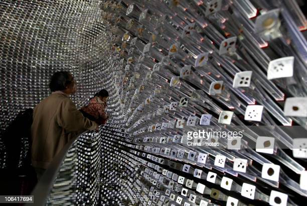Tourists visit the UK Pavilion which attracted 433622 visitors during the Shanghai World Expo the second among pavilions on October 31 2010 in...