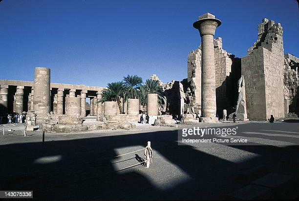 Tourists visiting an ancient archaeological site Egypt