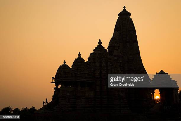 Tourists visiting Lakshmana Temple in Khajuraho India.