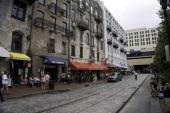 CONTENT] Tourists visiting shops along the Savannah GA river front