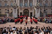 Tourists watch the Changing of the Guard at Buckingham Palace on June 24 2015 in London England The Queen may have to move out of Buckingham Palace...