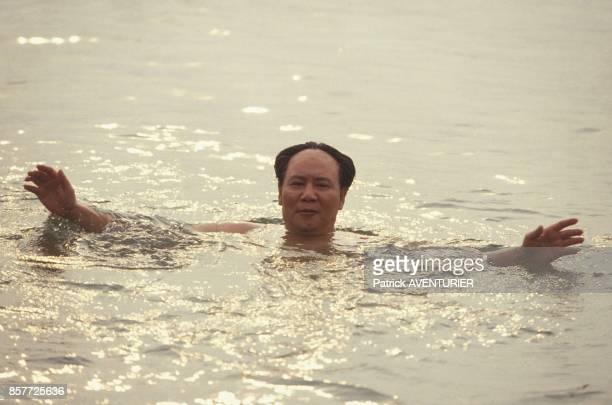 Tournage d'une scene de baignade dans la riviere Xiang Gang se deroulant en 1956 pour le film mis en scene par Cai Jiwei sur la vie de Mao Tse Toung...