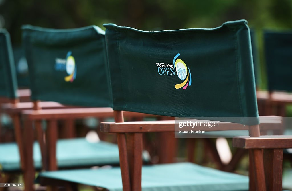 Tournament branded seats await spectators during the final round of the Tshwane Open at Pretoria Country Club on February 14, 2016 in Pretoria, South Africa.