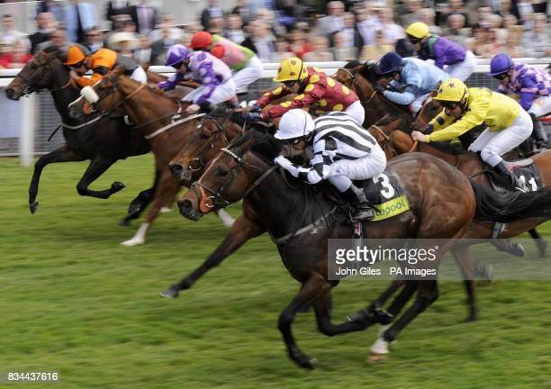 Tournedos and jockey Silvestre De Sousa wins the enter the totetentpfollow Stakes at York Racecourse York