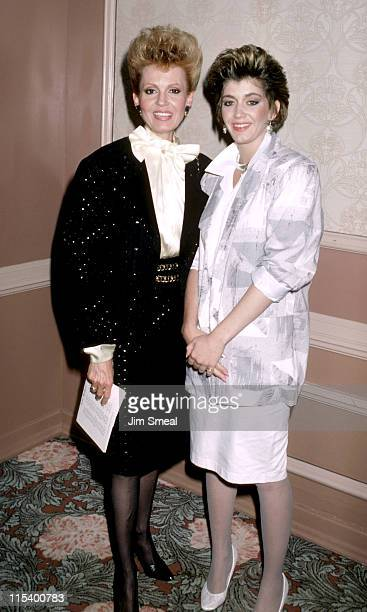 Tova Borgnine and Julie Borgnine during 5th Annual Mother/Daughter Fashion Show at Beverly Hilton Hotel in Beverly Hills California United States