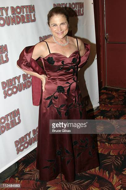 Tovah Feldshuh during Opening Night Curtain Call and Party for 'Dirty Rotten Scoundrels' on Broadway at Imperial Theater thenThe Copacabana in New...