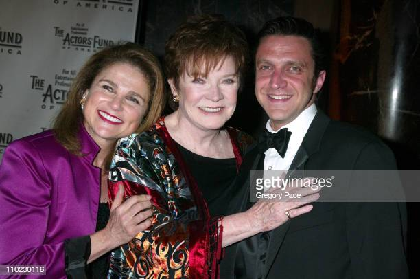 Tovah Feldshuh Polly Bergen and Raul Esparza during The Actors Fund 'There's No Business Like Show Business' Gala at Cipriani 42nd Street in New York...