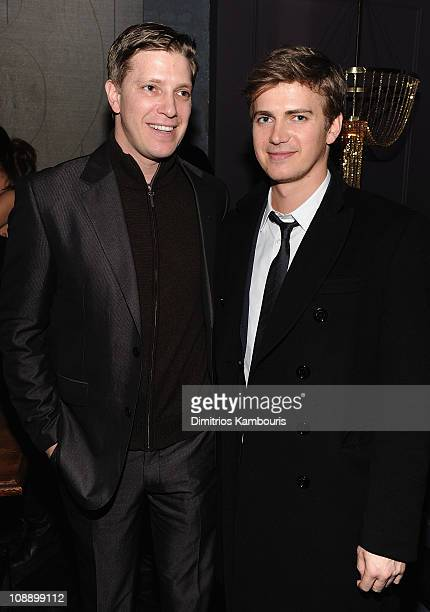 Tove Christensen and Hayden Christensen attend the after party for the Cinema Society screening of 'Vanishing On 7th Street' at Beauty Essex on...