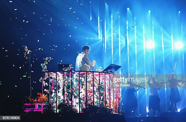 Tove Lo and Flume perform live during the 30th Annual ARIA Awards 2016 at The Star on November 23 2016 in Sydney Australia