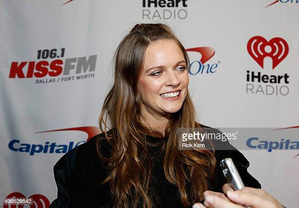 Tove Lo attends 1061 KISS FM's Jingle Ball 2015 presented by Capital One at American Airlines Center on December 1 2015 in Dallas Texas