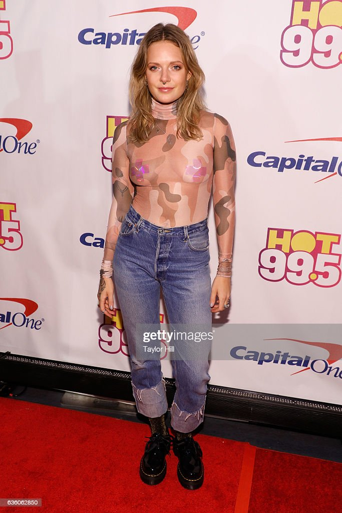 Tove Lo attends the Hot 99.5 Jingle Ball at Verizon Center on December 12, 2016 in Washington, DC.
