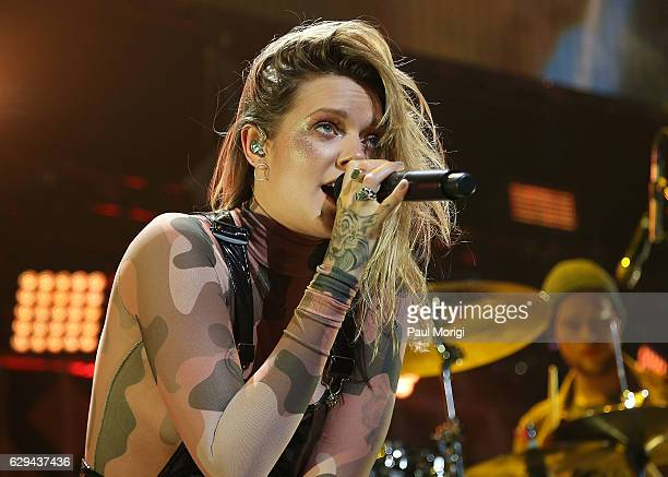 Tove Lo performs at Hot 995's Jingle Ball 2016 at the Verizon Center on December 12 2016 in Washington DC