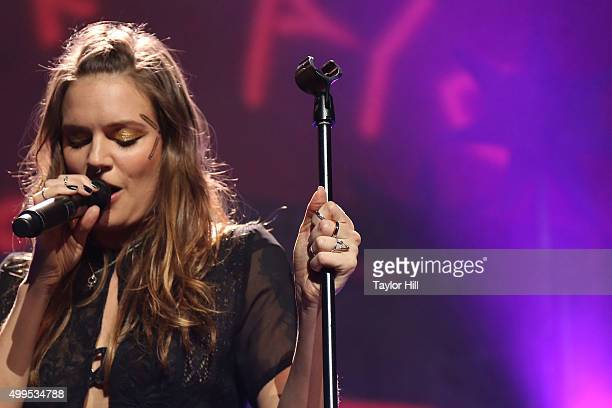 Tove Lo performs during 1061 KISS FM's Jingle Ball 2015 at American Airlines Center on December 1 2015 in Dallas Texas