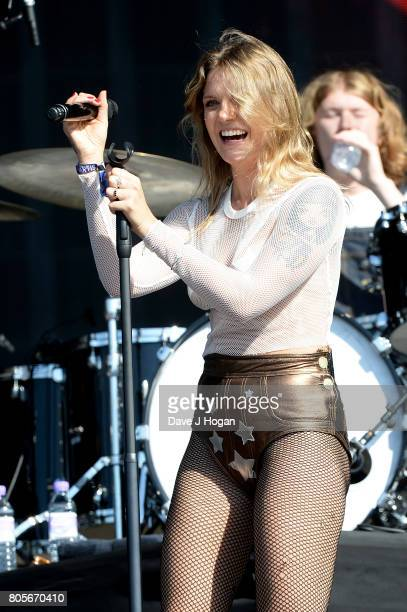 Tove Lo performs on stage at the Barclaycard Presents British Summer Time Festival in Hyde Park on July 2 2017 in London England