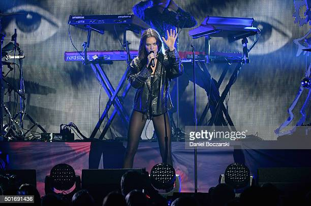 Tove Lo performs onstage during 1035 KISS FM's Jingle Ball 2015 presented by Capital One at Allstate Arena on December 16 2015 in Chicago Ill