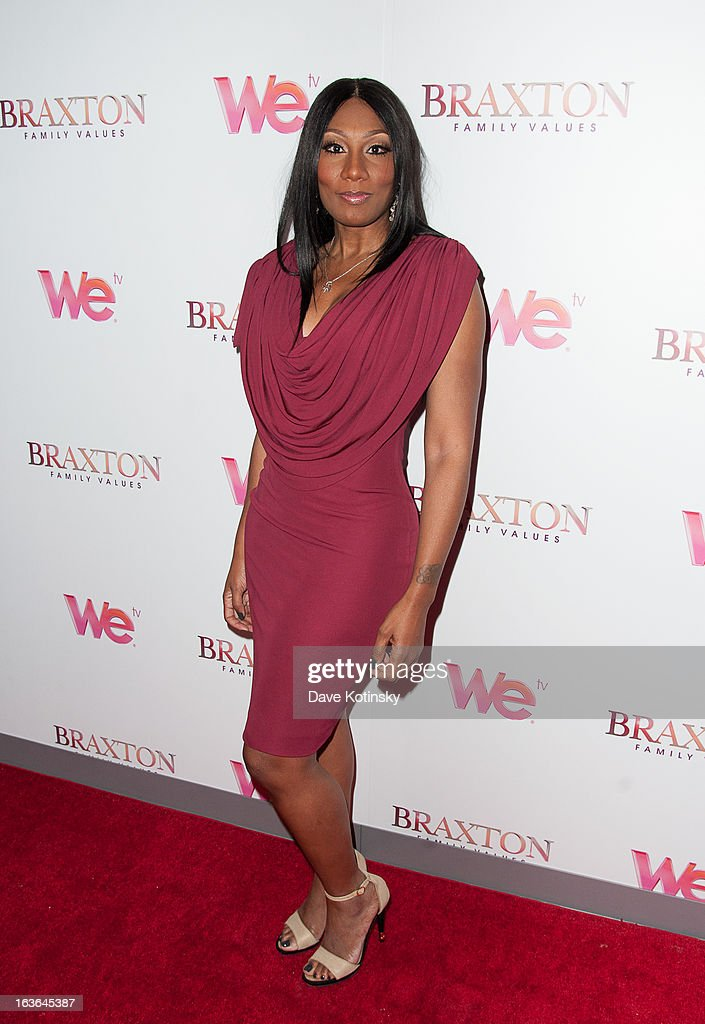 Towanda Braxton attend the 'Braxton Family Values' Season Three premiere party at STK Rooftop on March 13, 2013 in New York City.