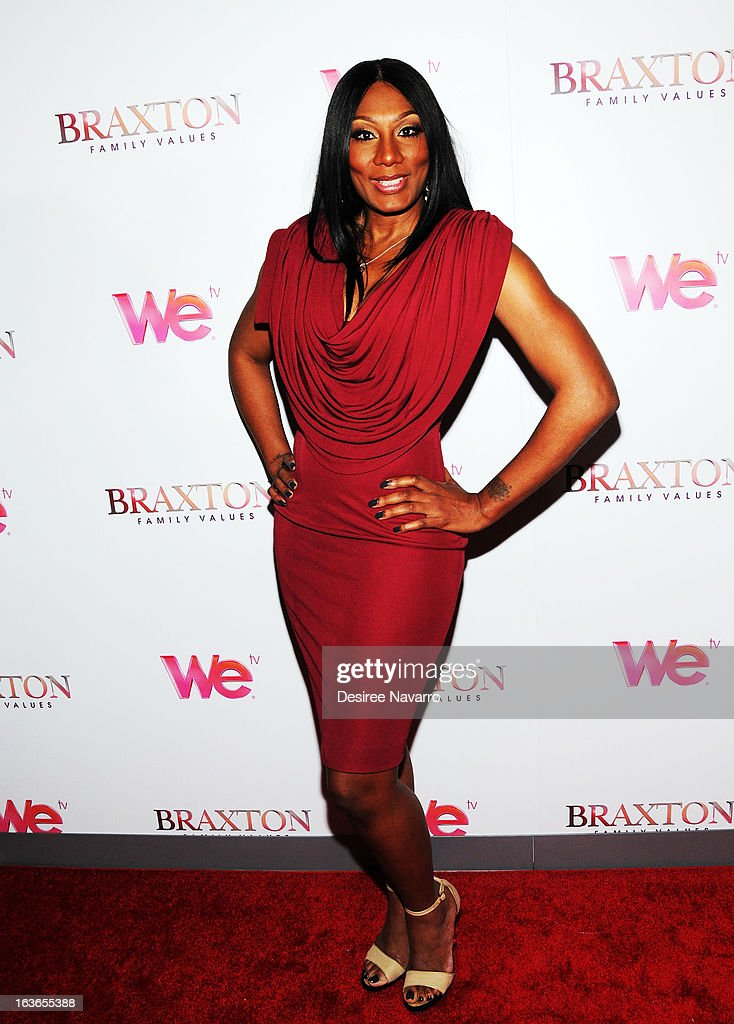 Towanda Braxton attends the 'Braxton Family Values' Season Three premiere party at STK Rooftop on March 13, 2013 in New York City.