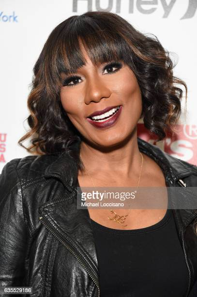 Towanda Braxton poses backstage at the Rookie USA fashion show during New York Fashion Week The Shows at Gallery 3 Skylight Clarkson Sq on February...