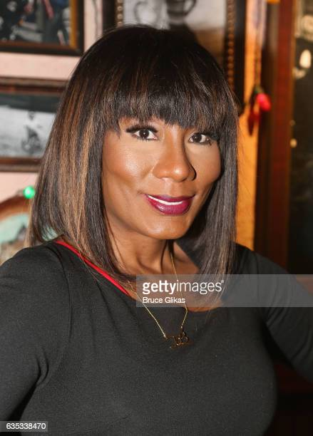 Towanda Braxton promotes her WE television series 'Braxton Family Values' as she visits Buca di Beppo Times Square on February 14 2017 in New York...