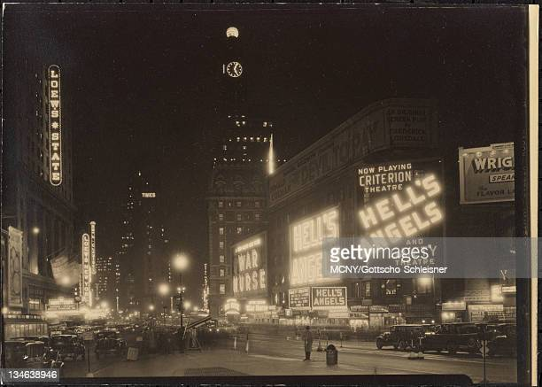 Toward Loew's State and Criterion Theaters With neon lights New York Times Building | Criterion Theatre | Loew's State