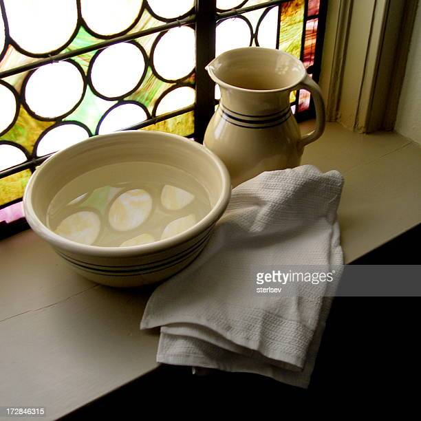 Asciugamano e bacino